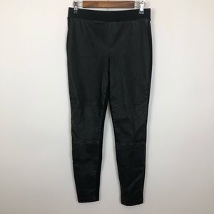 Lou and grey small black leather ponte leggings